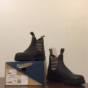 Blundstone Boots, Stout Brown Stripes, USAW 10.5